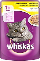Whiskas Pouch With Chicken in Jelly 1+ Years - Пилешко месо в желе за котки на възраст над 1 година - пауч 100 g -